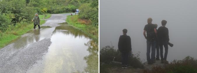 flooding and fog
